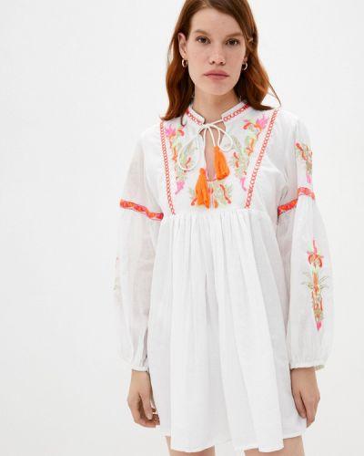 Пляжное белое пляжное платье Pilyq