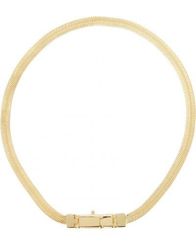 Złota bransoletka łańcuch pozłacana Tom Wood