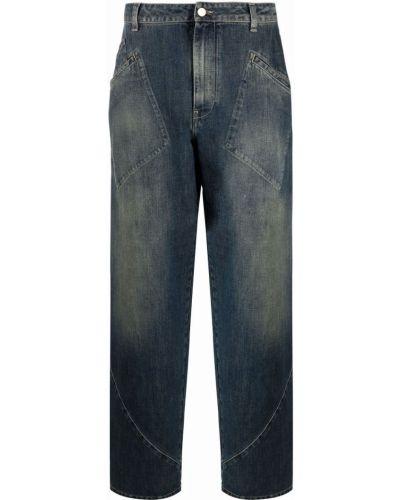 Синие джинсы со средней посадкой Alberta Ferretti