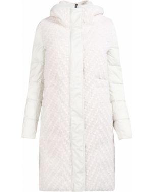 Белая длинная куртка на молнии с воротником с карманами Lorena Antoniazzi