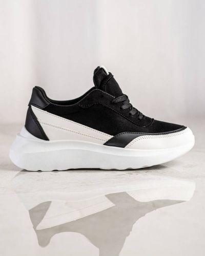 Czarne buty sportowe zamszowe Shelovet