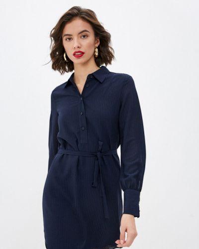 Синее платье-рубашка Armani Exchange