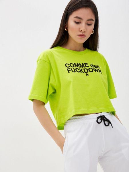 Зеленое футбольное поло Comme Des Fuckdown