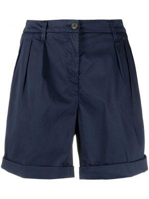 Синие хлопковые шорты с отворотом Fay