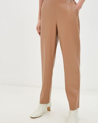 Кожаные бежевые брюки Akhmadullina Dreams
