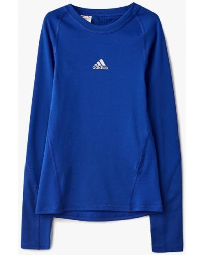 Синий лонгслив Adidas