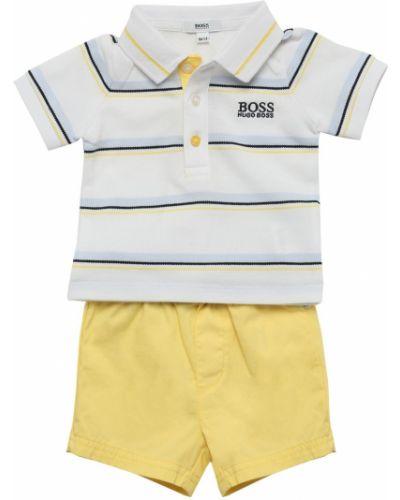 Хлопковая рубашка на пуговицах эластичная Hugo Boss