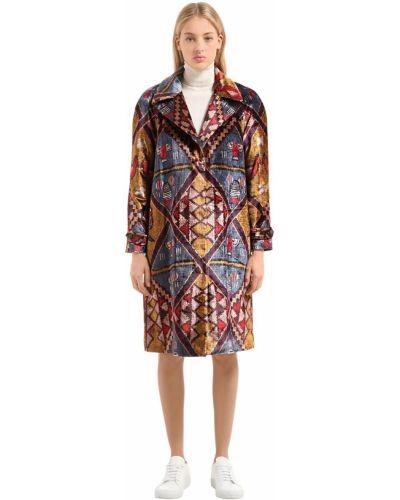 Куртка бархатная на пуговицах Stella Jean