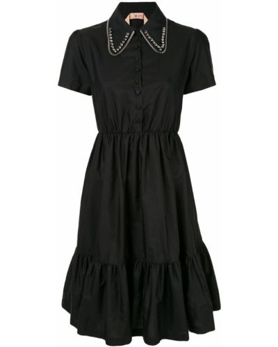 Платье мини миди на пуговицах N21