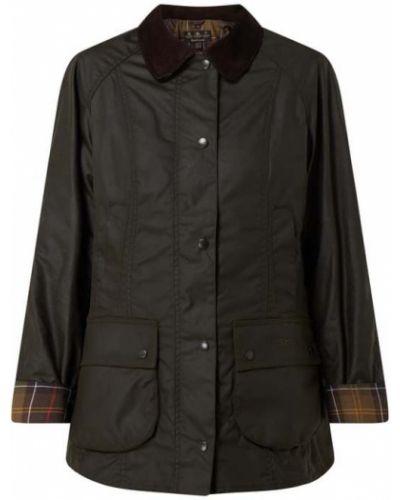 Zielona kurtka bawełniana z raglanowymi rękawami Barbour