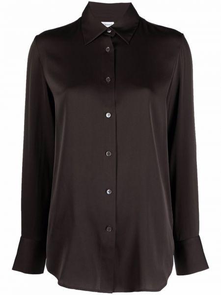 Koszula z jedwabiu - brązowa Filippa K