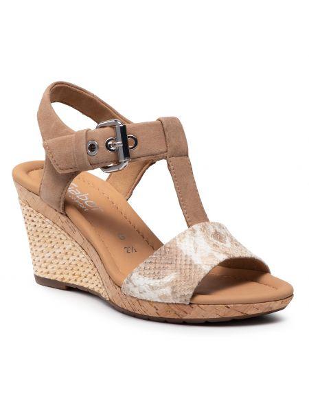 Sandały espadryle - beżowe Gabor