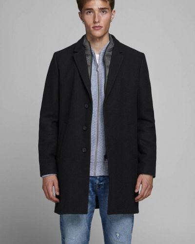 Черное пальто Jack & Jones