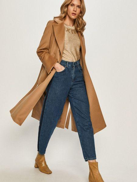 Шерстяная с рукавами бежевая куртка Max&co