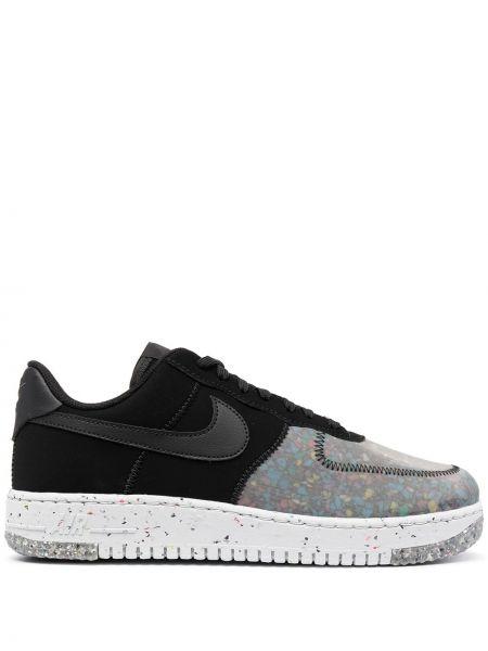 Koronkowa czarny top z haftem Nike