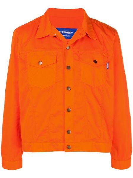 Хлопковая джинсовая куртка - оранжевая Anton Belinskiy