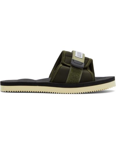 Czarne sandały na rzepy Suicoke