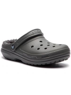Szary klasyczny chodaki prążkowany Crocs