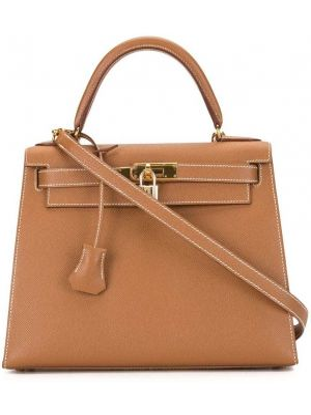 Кожаная сумка на плечо с ручками Hermès
