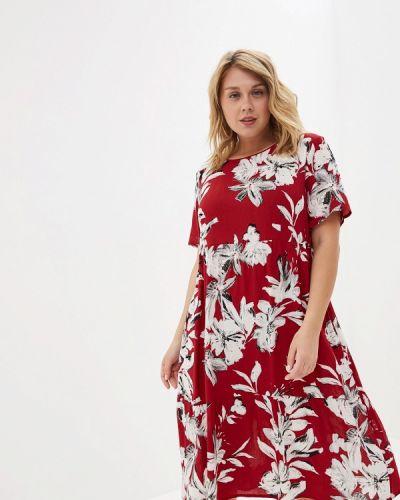 Повседневное платье красный Kontaly