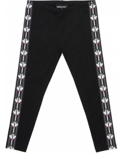 Czarne legginsy bawełniane Dsquared2