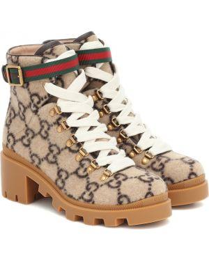 Сапоги шерстяные Gucci