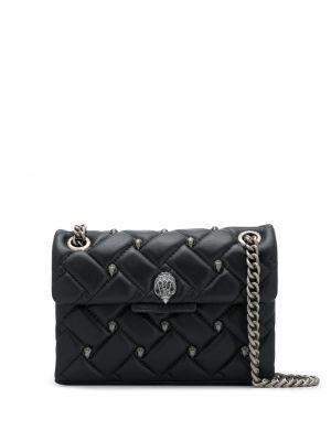Кожаная стеганая черная сумка на цепочке Kurt Geiger London