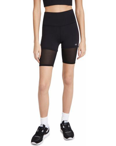 Czarne szorty z wysokim stanem do biegania Alo Yoga