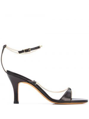 Czarne złote sandały klamry Maryam Nassir Zadeh