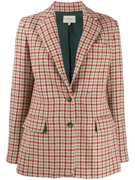 Шерстяной приталенный пиджак с карманами Holland & Holland