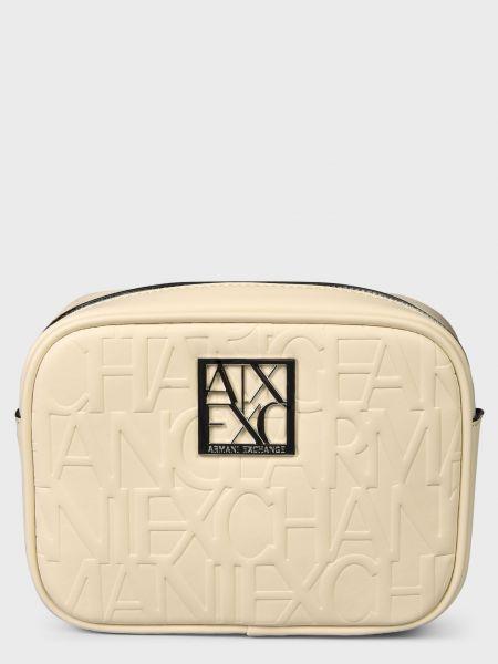 Кожаная сумка - белая Armani Exchange