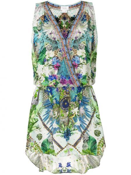Платье с поясом с запахом с цветочным принтом Camilla