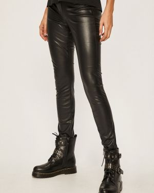 Spodnie z wzorem czarne Jacqueline De Yong