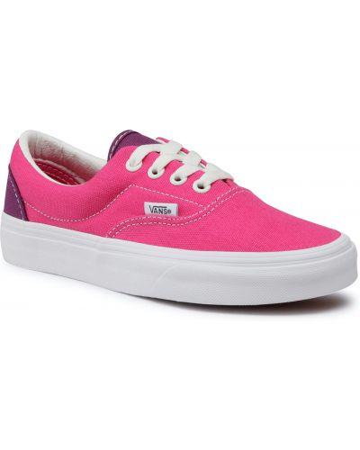 Różowy sneakersy zabytkowe Vans
