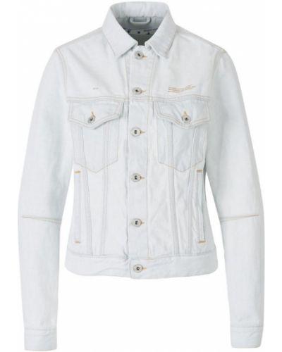 Klasyczna kurtka jeansowa bawełniana zapinane na guziki Off-white