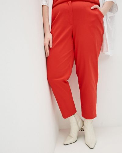Красные зауженные брюки Intikoma