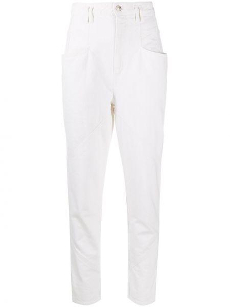 Bawełna bawełna obcisłe dżinsy z kieszeniami chudy Isabel Marant
