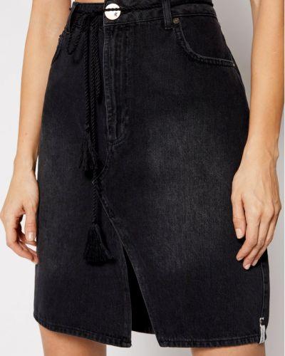 Spódnica jeansowa - czarna One Teaspoon