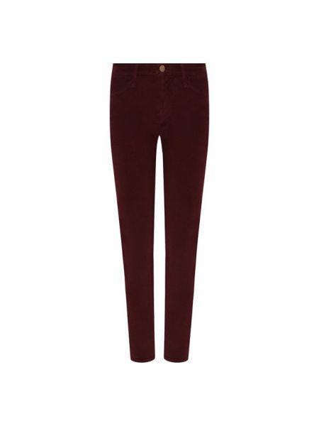 Укороченные брюки - красные Frame Denim