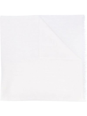 Белый вязаный шелковый шарф Brunello Cucinelli