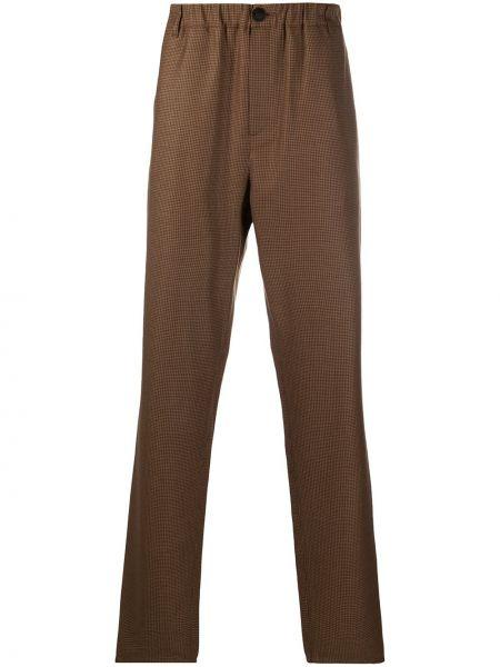 Шерстяные коричневые брюки с поясом на молнии A Kind Of Guise