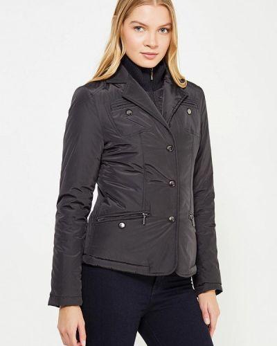 Утепленная куртка демисезонная черная Trussardi Collection