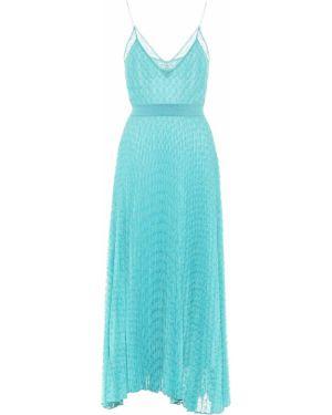 Платье миди вязаное синее Missoni