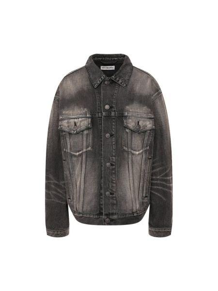 Джинсовая куртка черная Balenciaga