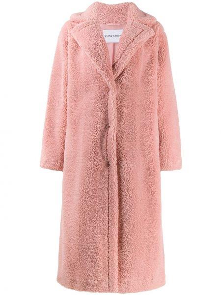 Розовое длинное пальто Stand