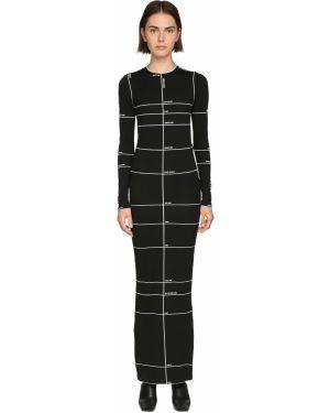 Платье макси стрейч с длинными рукавами Vetements