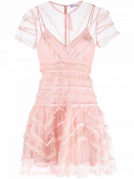 Розовое платье из фатина Red Valentino