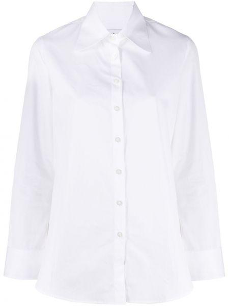 Biała koszula bawełniana z długimi rękawami Each X Other