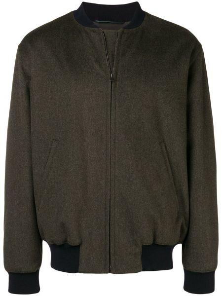 Зеленая шерстяная классическая куртка Holland & Holland