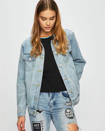 Джинсовая куртка укороченная на пуговицах Glamorous
